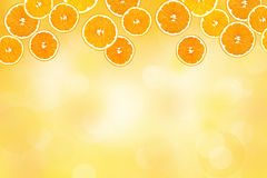 Collage of sliced oranges Royalty Free Stock Photography
