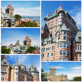Collage. Slottet i Kanada royaltyfria bilder
