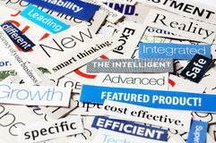 Collage  smart. Collage of paper headlines about the world economy Royalty Free Stock Photography