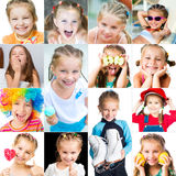 Collage of smiling little girl Royalty Free Stock Photos