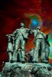 Collage socialista ingenuo di realismo Immagini Stock Libere da Diritti
