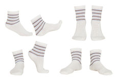 Collage of socks Royalty Free Stock Photography