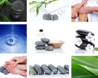 Collage Spa. Spa collage background health concept