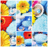 Collage of spa accessories Royalty Free Stock Image