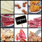 Collage spagnolo dei tapas Fotografia Stock