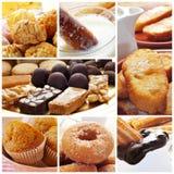 Collage spagnolo delle pasticcerie Fotografie Stock