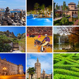 Collage of Spain images Stock Photo