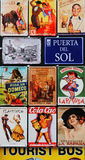 Collage of spanish signs Royalty Free Stock Photography