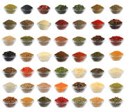 Collage Spices Royalty Free Stock Photo