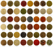 Collage  spices Royalty Free Stock Photography