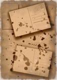 Collage Splattered delle cartoline Immagine Stock