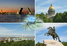 Collage of St.Petersburg Royalty Free Stock Image