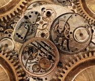 Collage stilizzato dell'estratto di una d meccanica Immagini Stock