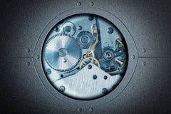 Collage stilizzato di un fondo dell'estratto del dispositivo meccanico fotografia stock