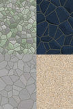 Collage of stone textures. 4 seamless background of stone textures. digitally generated Royalty Free Stock Images