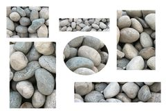 Collage of stones. In construction royalty free stock photos
