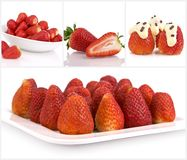Collage of strawberries Royalty Free Stock Image