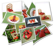 Collage with strawberries Stock Images