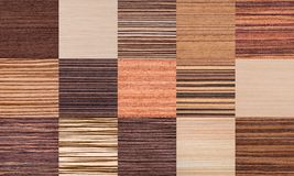 Collage of Striped Wood Texture royalty free stock photography