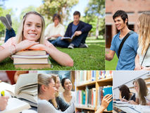 Collage of students Royalty Free Stock Image
