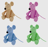 Collage of stuffed mouse toys Stock Photography