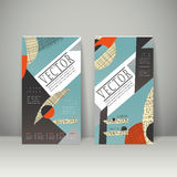 Collage style banner template design Stock Photography
