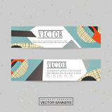 Collage style banner template design Royalty Free Stock Image
