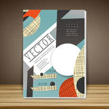 Collage style book cover Stock Photography