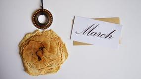 Collage stylisé au jour international du ` s de femmes, le 8 mars, Images stock