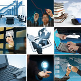 Collage stylish businessman Stock Photo