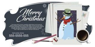 Collage su natale e sul nuovo anno di tema Illustrazione di riserva illustrazione vettoriale