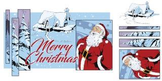 Collage su natale e sul nuovo anno di tema Illustrazione di riserva royalty illustrazione gratis