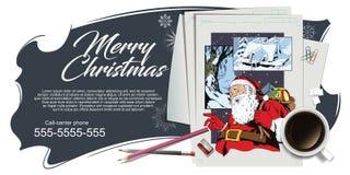 Collage su natale e sul nuovo anno di tema Illustrazione di riserva illustrazione di stock