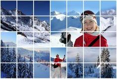 Collage suizo de las montan@as Fotos de archivo libres de regalías