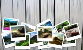 Collage sul tema di turismo Fotografia Stock Libera da Diritti