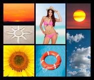 Collage of the summer Royalty Free Stock Photography