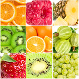 Collage of summer fruits Royalty Free Stock Images