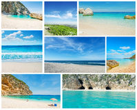 Collage of summer Sardinia images Royalty Free Stock Photos