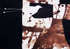 Collage sur le papier de l'oiseau de paradis Photographie stock libre de droits