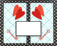 Collage, tarjeta de la tarjeta del día de San Valentín imagen de archivo libre de regalías