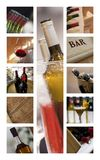 Wineries and cellars. Collage of tasting wine in wineries and cellars Stock Photography