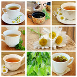 Collage with  Tea Stock Photo