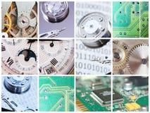 Collage tecnico Fotografia Stock Libera da Diritti