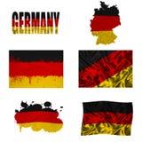 Collage tedesco della bandierina Immagine Stock