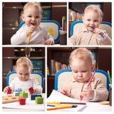 Collage temprano del desarrollo Fotos de archivo libres de regalías