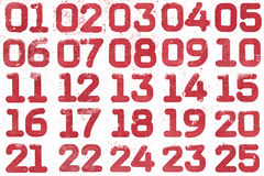 Collage of textural numbers Stock Photo