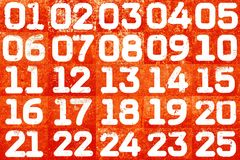 Collage of textural numbers Stock Photography
