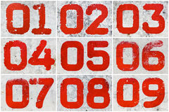 Collage of textural numbers Stock Photos