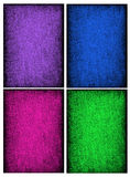 Collage of textured backgrounds in rich saturated jewel tones Royalty Free Stock Photos