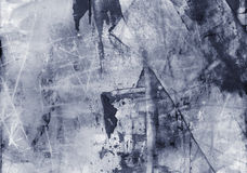 Collage texturizado extracto de las técnicas mixtas del Grunge, arte stock de ilustración